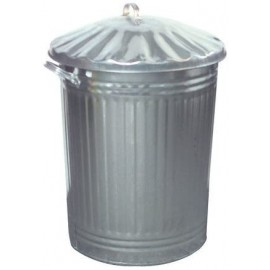 Galvanised Dustbin with lid 90LT | 47461