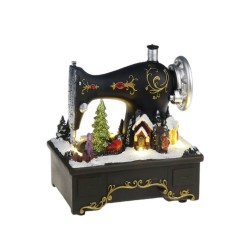 Christmas Scene in Sewing Machine 19cm | 402264