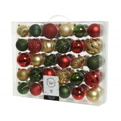 Shatterproof Baubles Assorted 60pk | 402179