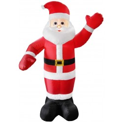 Inflatable with 4 LED Santa Waving 240cm | 400124