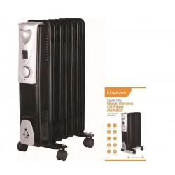 Slimline Oil Filled Radiator 1.5 KW 7 FIN - Black | 62590