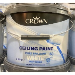 CROWN Ceiling Paint 9L Brilliant White Matt | 72518