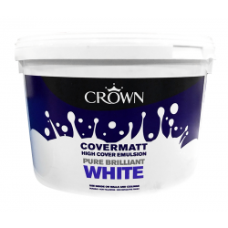 CROWN Covermatt Emulsion 10LT Brilliant White