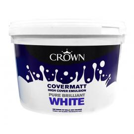 CROWN Covermatt Emulsion 10LT Brilliant White