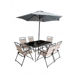 SEVILLE 8pc Steel & Textile Garden Set   423540