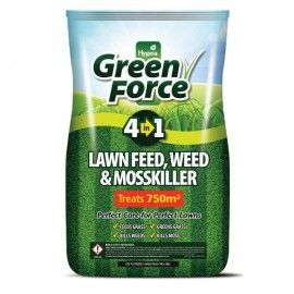 Greenforce 4 In 1 Lawn Feed, Weed & Mosskiller 15kg   G60002