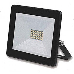 Glass Surface IP65 LED Flood Light Aluminium 30W with Sensor BLACK | 49744