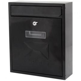 De Vielle Contemporary Post Box BLACK   44675