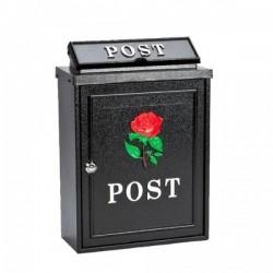 De Vielle Rose Diecast Post Box BLACK | 44678