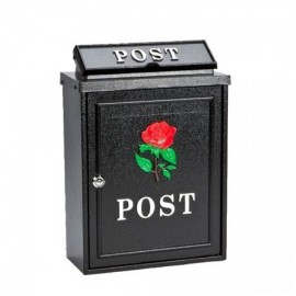 De Vielle Rose Diecast Post Box BLACK   44678