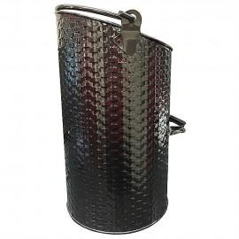 DE VIELLE Ellipse Basket Weave Coal Hod BLACK | DEF977985