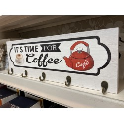 Its Time For Coffee Wall Hook | 426744