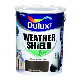 DULUX Weathershield 5L BITTER CHOCOLATE   68468