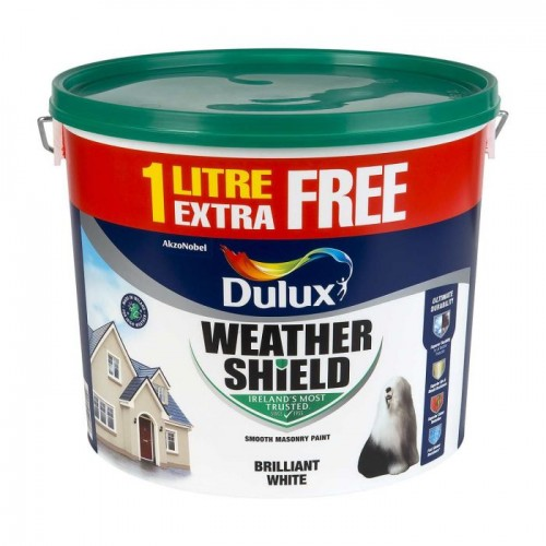 DULUX Weathershield 11L PURE BRILLIANT WHITE | 71477