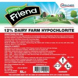 FARMERS FRIEND 10%-12% Dairy Farm Hypochlorite 5L | 29160