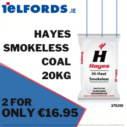 HAYES Hi Heat Smokeless Fuel 20kg 2 for €16.95 | 370310