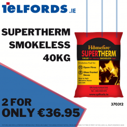 Supertherm Smokeless Fuel 40kg 2 for €36.95 | 370312