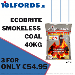 ECOBRITE Smokeless Coal 40kg 3 for €54.95 | 415311
