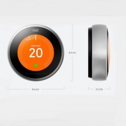 Google Nest Learning Thermostat 3rd Generation STAINLESS STEEL | T3028GB