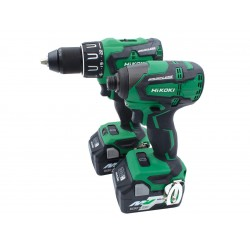 HIKOKI 18v Brushless Twin Kit Combi Drill & Impact Driver c/w 2 x 5.0Ah MultiVolt Batteries | KC18DBFL2/JDZ