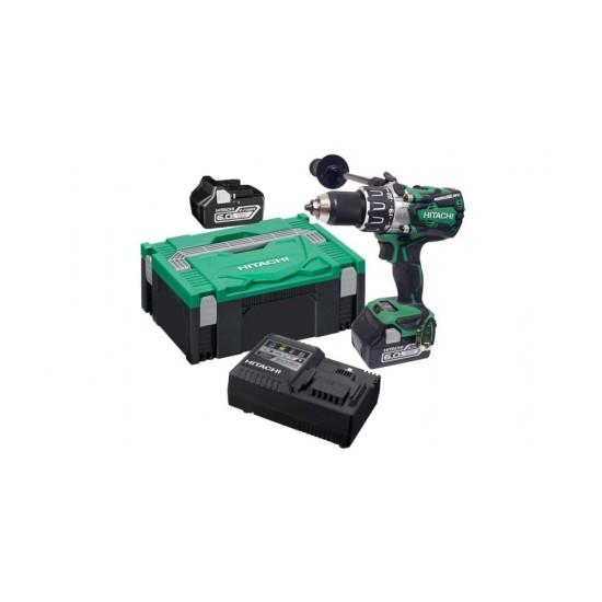 HIKOKI 18v Combi Drill c/w 2 x 5.0Ah MultiVolt Batteries | DV18DBXL/JRZ
