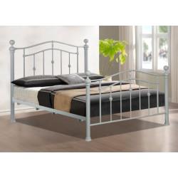 4'6 Elizabeth Grey Metal Bed | 385325