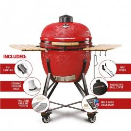 "KAMADO BONO Limited 25"" Charcoal BBQ RED | TQ0025RED"