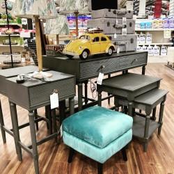 Velvet Plush Square Footstool TEAL   426817