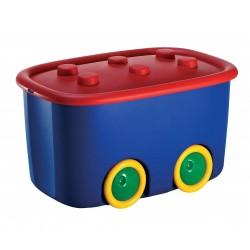 KIS Funny Box 46L Lidded Toy Storage Box on Wheels | 403195