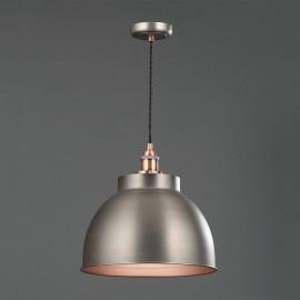 Industrial Diner Pendant PEWTER & BRUSHED COPPER   425168
