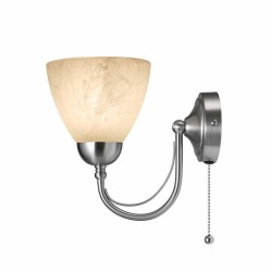 Alabaster Cup Wall Light NICKLE   430501