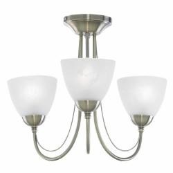 Alabaster Cup 3 Ceiling Light NICKLE   430502