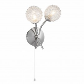 Wire Ball 2 Light Wall Lamp SATIN NICKLE   430505