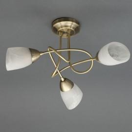 Carter 3 Light Ceiling Fitting ANTIQUE BRASS   430531