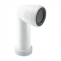 MCALPINE McAlpine 90° Bend Adjustable Length Extended Inlet Rigid WC Connector   WC-CON8E