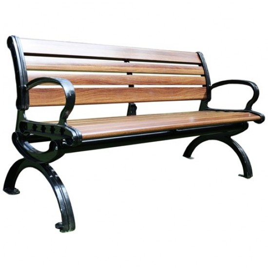 Fiberglass Garden Bench 9 Slat | 422604