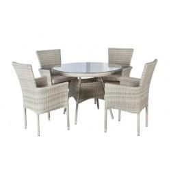 ALICANTE 4 Seater Stacking Outdoor Dining Set | MXA-703