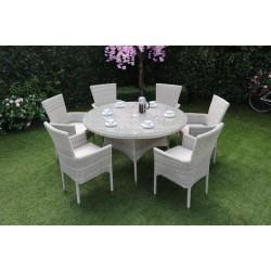 ALICANTE 6 Seater Stacking Outdoor Dining Set | MXA-704
