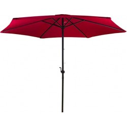 2.7m Steel Parasol with Crank RED | 423522