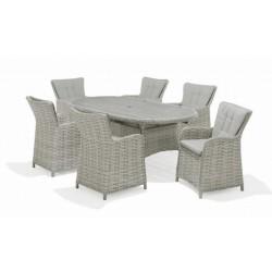 SAMOA 6 Seater Oval Dining Set   426913