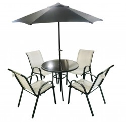 SORRENTO 6 Piece Table and Chair Set COOL GREY   64942