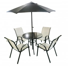 SORRENTO 6 Piece Table and Chair Set COOL GREY | 64942