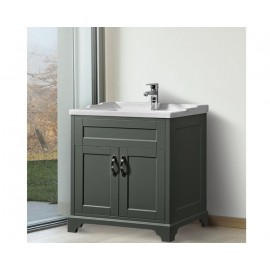 Woodbridge 70cm Slate Vanity & Basin | 400749