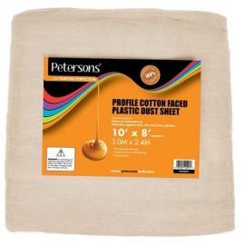 PETERSON'S Cotton Faced Plastic Dust Sheet 10ft X 8ft | 69426