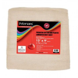 PETERSON'S Predator Cotton and Plastic Dust Sheet 12ft X 9ft | 75420
