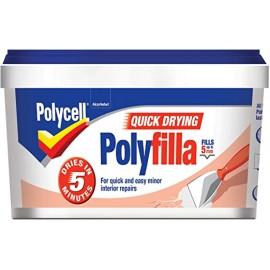 POLYCELL Multi-Purpose Quick Drying Polyfilla Tub 330g | 75321