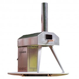 QUBESTOVE Rotating Pizza Oven and Stove STAINLESS STEEL | 410078