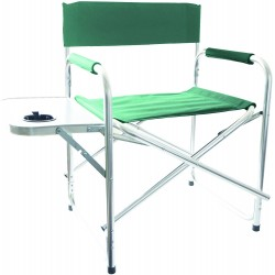 REDWOOD Aluminium Outdoor Directors Chair with Side Table GREEN | 408280