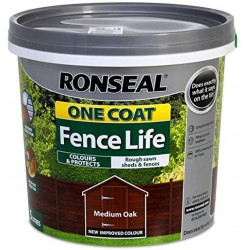 RONSEAL One Coat Fencelife 5lt MEDIUM OAK | 403822