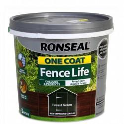RONSEAL One Coat Fencelife 5lt FOREST GREEN | 403824